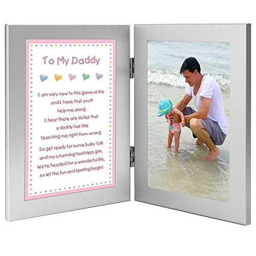 Newborn Baby Girl to Daddy Gift when She is Born, Christmas or for Dad's Birthday – Add Photo