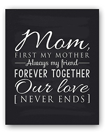 Mom Gift, Mom Quote Sign, Mom Chalkboard Print, Unique Gift for Mom and Mom Christmas Gift, Mom Wall Decor, Best Mom Gift, Mom Gift from Daughter, Mom Gift from Son – Ready to Hang, Hanger Included